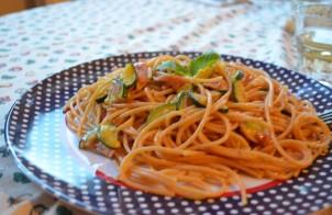 Spaghetti Carbonara con Zucchine