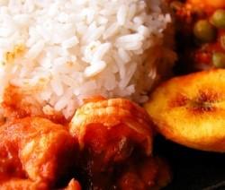 gamberoni con salsa chili