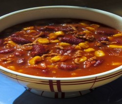 chili di tonno e mais
