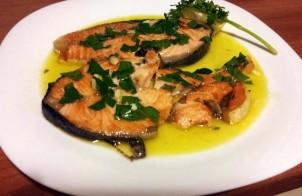 salmone in salsa di soia