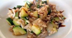 risotto con zucchine e cipollotti